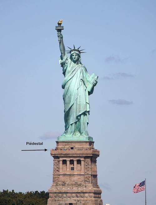 Statue de la liberté piédestal