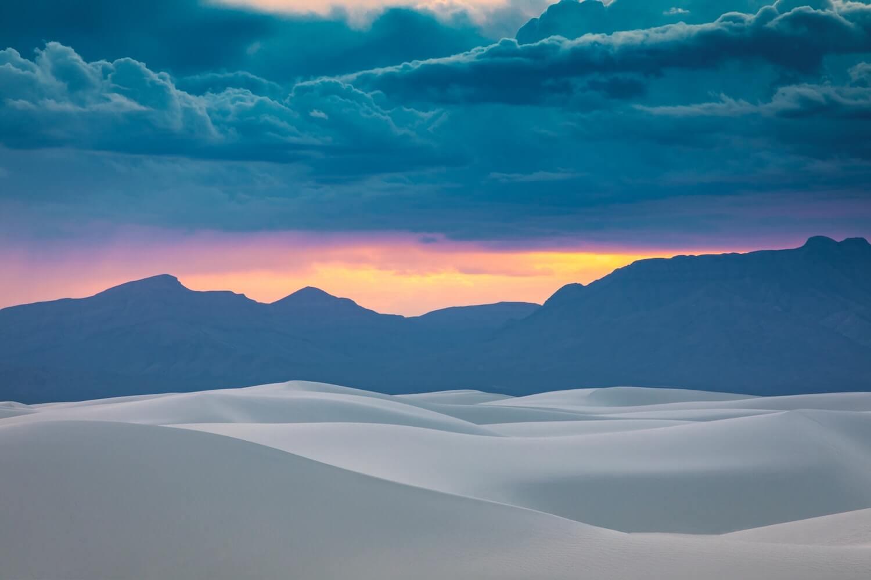 Coucher de soleil White Sands