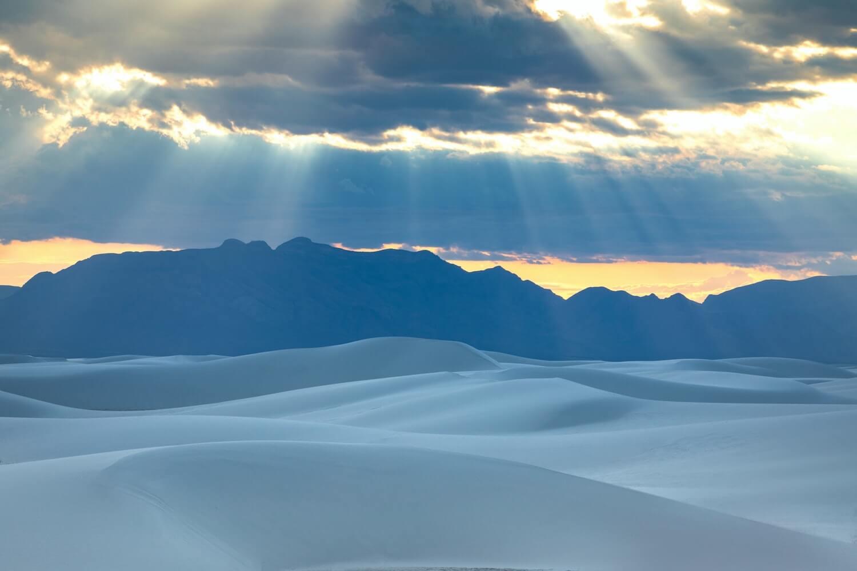 Lever de soleil White Sands