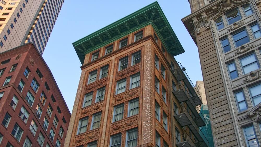 Immeubles Boston centre