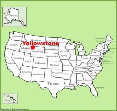 Yellowstone carte USA